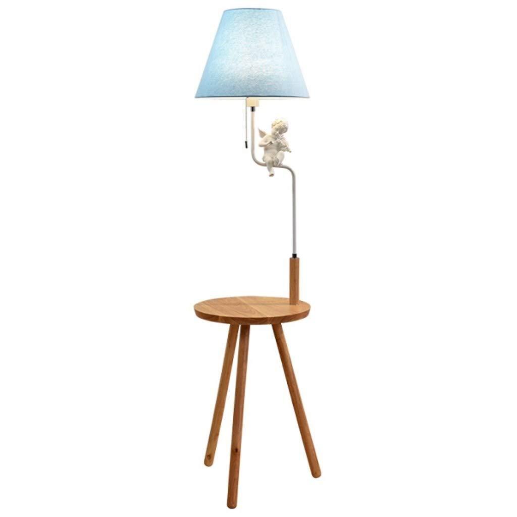 Lámparas de pie Lámpara de pie LED con trípode de Madera, Simplicidad nórdica Mesa de Noche