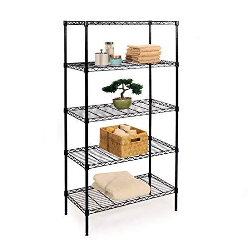 Ikuby Heavy Duty 5 Shelf Tier Industrial Metal Boltless Garage Workshop Shelving Storage Rack