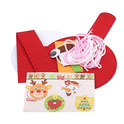 Yesiidor Tragbare Süßigkeitenkörbe mit Griff Weihnachtsfeier Goodie Treat Bag,Schneemann,16,5 cm