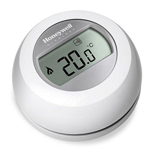 Honeywell Round THR87Intelligentes, kabelloses Thermostat, steuerbar über App, weiß