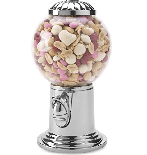 Le#039raze Elegant Candy Dispenser Gumball Machine with Silver Top Holds Snack Candy Nuts and Gumball#039s