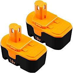 top rated [Upgraded to 3.8Ah]  Two replacement P100 batteries compatible with Ryobi 18V One + power tools … 2021