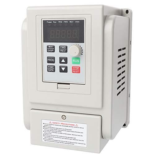 VFD Variador de frecuencia ajustable AC 220V 1.5KW Variador de frecuencia VFD Controlador de velocidad para motor trifásico