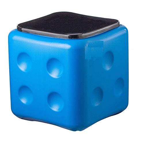 Vruta Taburete resistente y compacto de microfibra irrompible para sala de estar, hogar, oficina, al aire libre (Multi)