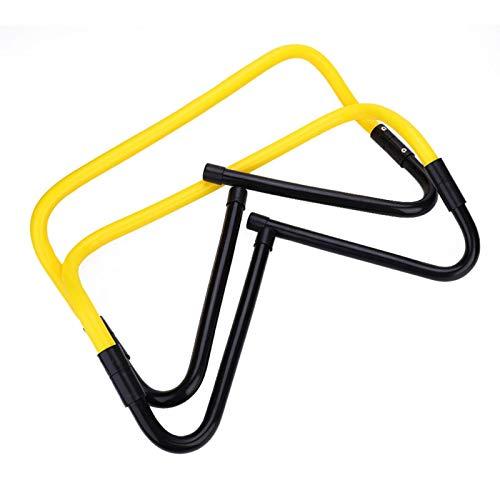 Ever Vallas de Entrenamiento de Velocidad, 2 uds, Altura Ajustable, 15/30 cm, fútbol, Velocidad, Agilidad, Equipo de Entrenamiento con Vallas(Amarillo + Negro)