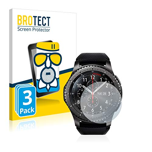 brotect Pellicola Vetro Opaca Compatibile con Samsung Gear S3 Frontier   S3 Classic (3 Pezzi) Protezione Schermo Anti-Riflesso Durezza 9H, AirGlass
