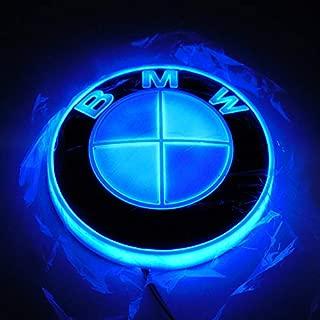 Jianzhucail Auto Illuminated Logo, Glowing Rings, Lights DRL Daytime Running Lights for Hood/Trunk 82mm for All Models BMW E30 E36 E46 E34 E39 E60 E65 E38 X3 X5 X6 X7 X8 LED Emblem Light - Blue