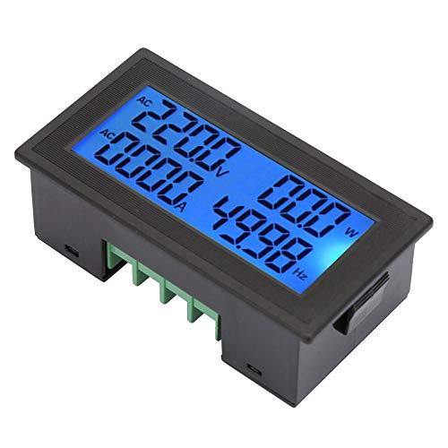 Multifunctie ACspanning Amp egrave;remonitor Stroomenergiefactor Frequentie Elektrische meter LCDscherm Voltmeter 0 tot 20A Volt Amp Tester Gauge Digitaal 60 tot 500V