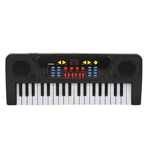 Tastatur E-Piano, langlebig mit Mini-Mikrofon E-Piano, 37-Tasten Music Intelligence Toys Praktische elektrische digitale Tastatur für Kinder