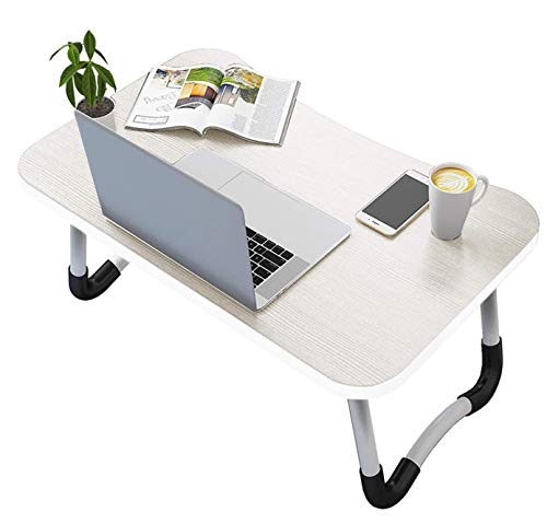 Vasen Mesa Ordenador Portátil Plegable Mesa para portátil Mesa Cama Ergonómico Bandeja para Desayuno 60 x 40 cm (Blanco)
