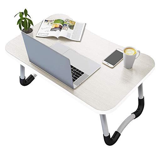 Vasen Tavolino da Letto Colazione Pieghevole Tavolo Letto Regolabile e Portatile per Laptop Pc Supporto Notebook Computer Tablet 60x40x28cm (Bianco)