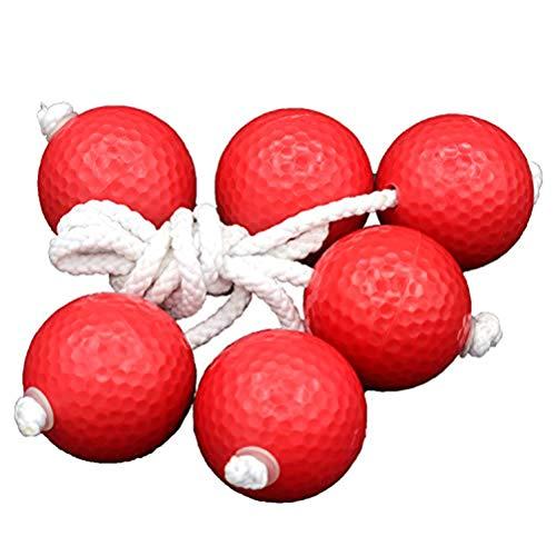 Oyria 1 Satz Ersatzleiter Golfball, Outdoor Durable Leiter Toss Bolas Spiel Set Garten Spielzeug für Erwachsene Kinder Kleinkinder, Rot