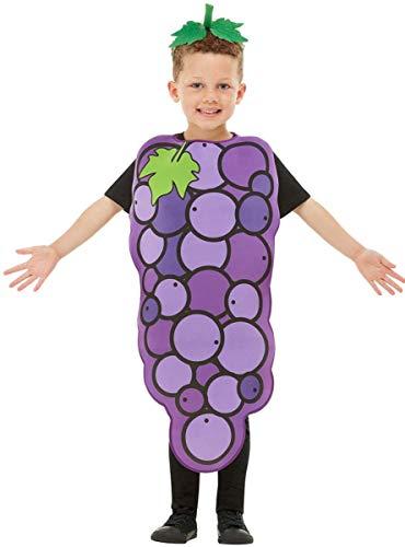 Funidelia   Disfraz de UVA para niño y niña Talla 4-10 años ▶ Fruta, Comida - Morado, Túnica y Diadema