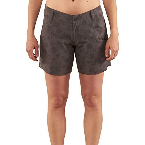 Club Ride Apparel Eden Dandelion Print Cycling Short - Women's Biking Shorts - Asphalt Print - X-Large