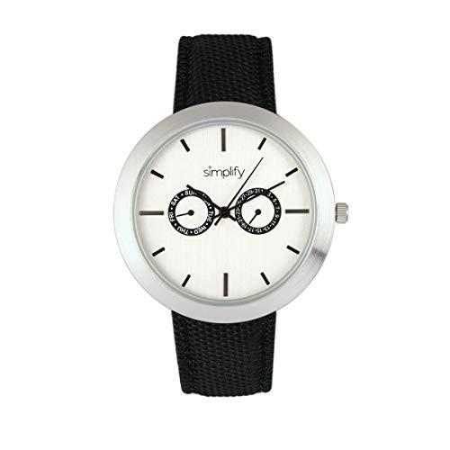 Simplify El 6100 Reloj unisex de cuarzo con correa de lona con fecha