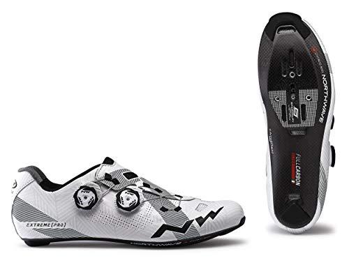 Northwave Extreme Pro 2020 - Zapatillas para bicicleta de carreras, color blanco y negro, 38