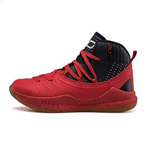 Botas Altas Zapatos de Baloncesto Transpirables Resistentes al Desgaste, Pareja de Estudiantes, Zapatos Deportivos de Tendencia Casual
