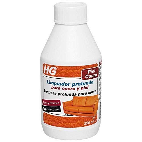 HG Limpiador profundo cuero y piel 250 ml - Limpia los poros en profundidad – Seguro y suave – a base de agua