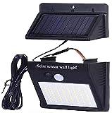 Luz solar exterior con sensor de movimiento placa independiente foco solar led para jardin con panel separable lámpara impermeable