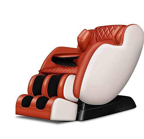 CSPFAIZA Elektrisch Massagesessel, 4D Intelligenter Flexibler Manipulator, Elektrisches Sofa mit Wärmefunktion, Keine Notwendigkeit Zu Installieren - Orange/Rot,Orange