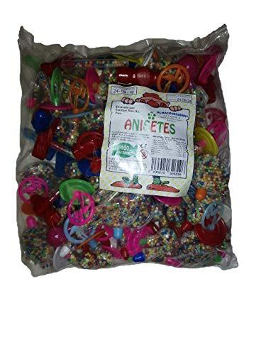 2629; 100 juguetes surtidos con anisetes; ideal para relleno de piñatas; para fiestas y cumpleaños.