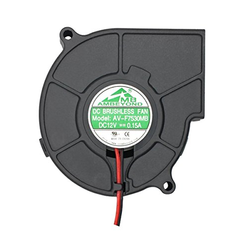 75mm x 30mm 7530 12V Cooling Blower Fan, Dual Ball...