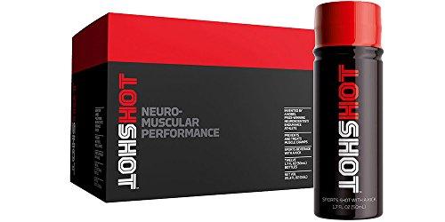 HOTSHOT Muscle Cramp Sports Shot, Organic Drink 12PK 1.7oz Bottles