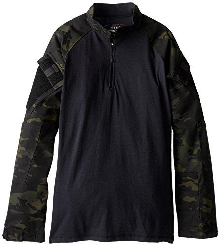 Tru-Spec - Maglietta Combat da Uomo, Uomo, 6930, Multicam Nero, M