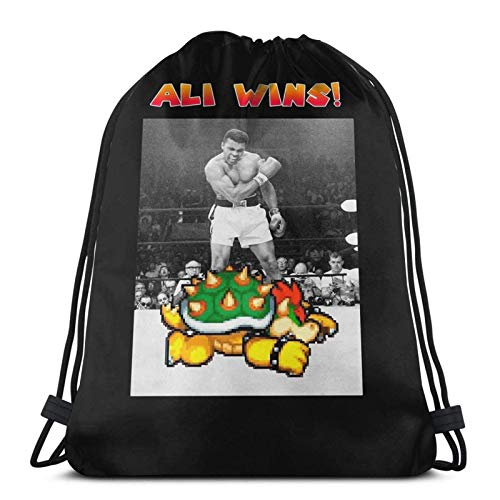 WH-CLA Drawstring Backpack Vs Bo-Wser (Black) Drawstring Backpack Unique Print Durable Lightweight Cinch Bags Gym Drawstring Bags Anime Casual Men Travel Women For Travel Spring Outing Sw