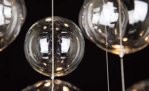 "Saint Mossi Modern Glass Raindrop Chandelier Lighting Flush Mount LED Ceiling Light Fixture Pendant Lamp for Dining Room Bathroom Bedroom Livingroom 4 GU10 Bulbs Required H31"" X D20"""