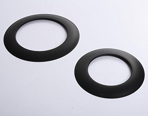 Rosette Wandrosette Schwarz für Ofenrohre Kamin Blende Schornstein Rauchrohr 4 Größen (Ø 150) von rg-vertrieb