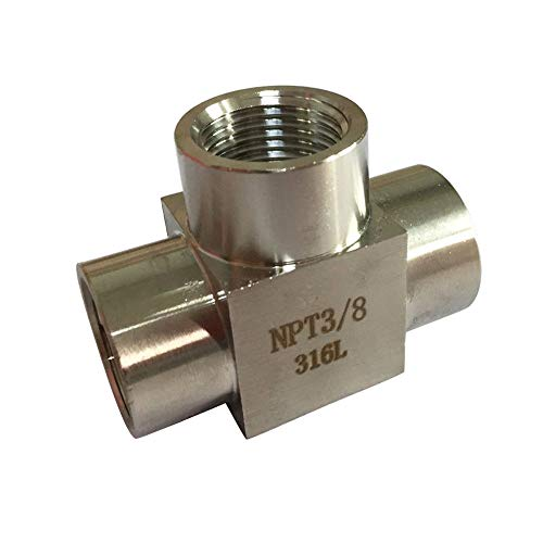 Metalwork 316 Stainless Steel Pipe Fitting Forged Tee 3/8