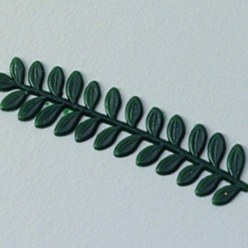 efco Myrtle cera, motivo ramo, colore: verde, 55 mm, 2 pezzi