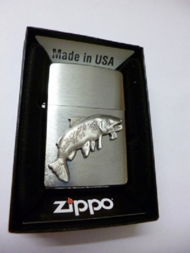 Zippo Feuerzeug Forelle Fisch Emblem
