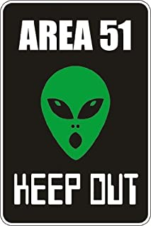 StickerPirate Area 51 Keep Out 8
