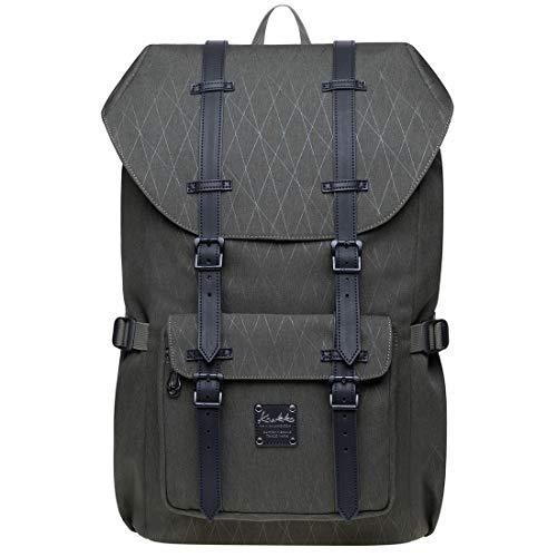 KAUKKO Rucksack Damen Herren Schön und Durchdacht Daypack mit Laptopfach für 14 Zoll Notebook für Schule, Uni, 19L
