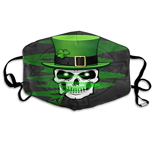 Comfortable Printed mask,Celtic Skull Smoking Pipe,Windproof Facial decorations for man and woman