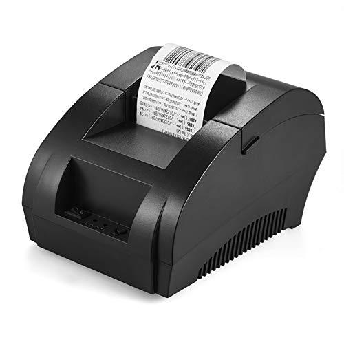 Bisofice Impresora térmica de códigos de tiques en 58mm de Papel,POS-5890K 58mm Recibo de Impresora USB Bill Ticket POS Cajón de Efectivo Restaurante Impresión al por Menor