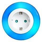 i-SOTA LED Nachtlicht, Steckdosen Licht als Zwischenstecker, Kinder Sicherung, Farbwechsel über Touch-Schalter Orientierungslicht mit Dämmerung Sensor