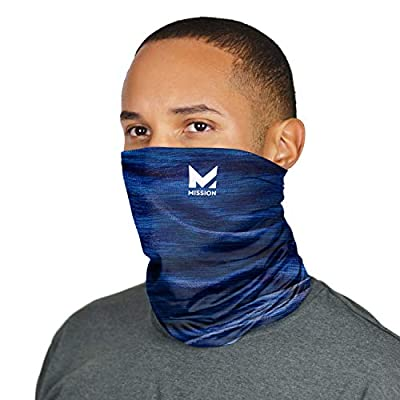 Mission Cooling Neck Gaiter Customize Your Coverage, Face Mask, Cools when Wet- Royal Space Dye