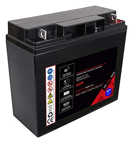 Batería Premium para AGM de plomo 12 V 18 Ah 20 horas batería de plomo sin mantenimiento (12 V 18 Ah 20 HR)