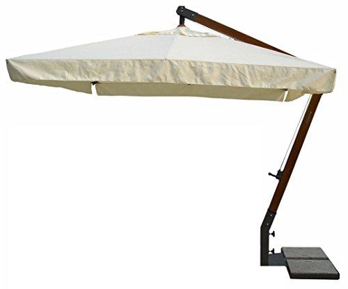 FIM Ischia mt.3x2 Rahmen Aluminium Farbe Graphit Tuch ecru Farbe mit Rüschen komplett mit Basis ohne Fliesen
