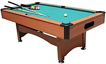 Billiard Table,Pool Table Green Top with Wooden deck 7Ft