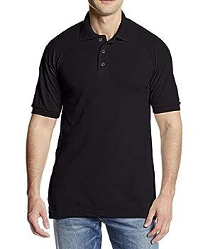 Dickies Men s Big Short Sleeve Pique Polo Black 2X