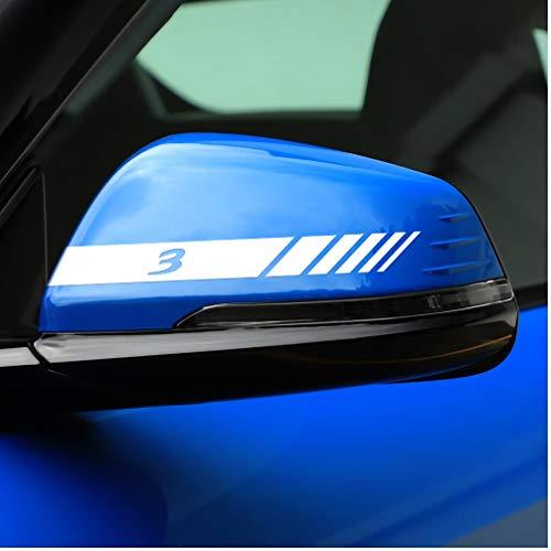 2 uds, Pegatina para cubierta de espejo retrovisor de coche, pegatinas para retrovisor, calcomanías para el cuerpo, decoración, accesorios para automóviles para mazda 3, Material de PVC