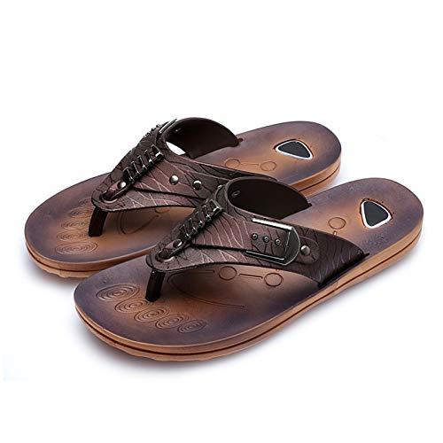 QLIGHA Chanclas para Hombre Verano Playa Piscina Comodas Sandalias Goma Planas Caminar Adulto Moda Zapatos Sandalias De Dedo