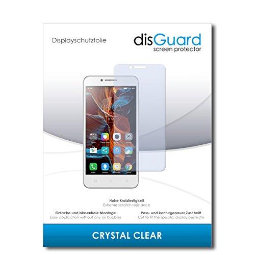 disGuard® Bildschirmschutzfolie [Crystal Clear] kompatibel mit Lenovo Vibe C [2 Stück] Kristallklar, Transparent, Unsichtbar, Extrem Kratzfest, Anti-Fingerabdruck - Panzerglas Folie, Schutzfolie