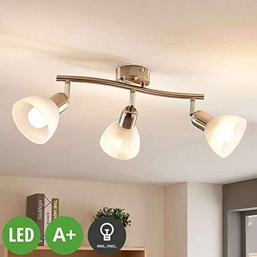 Lindby LED Deckenlampe 'Paulina' (Modern) in Alu aus Metall u.a. für Wohnzimmer & Esszimmer (3 flammig, E14, A+, inkl. Leuchtmittel) - Deckenleuchte, Wandleuchte, Strahler, Spot, Lampe