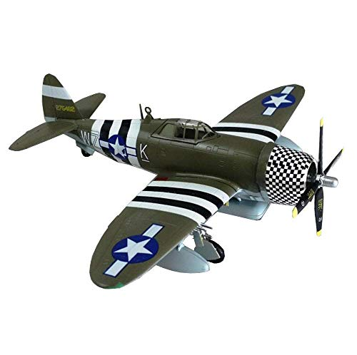 JHSHENGSHI 1/72 Scale Fighter Plastic Model, Military P47D Lightning Fighter Adult Collectibles And Gifts, 6Inch X 5.4Inch
