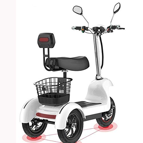 WOkismx 12Inchthree de Ruedas eléctrica Triciclo eléctrico de la Bicicleta de 3...